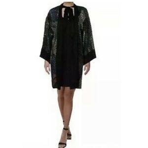BCBGMAXAZRIA Orchid Tie-Neck Shift Dress